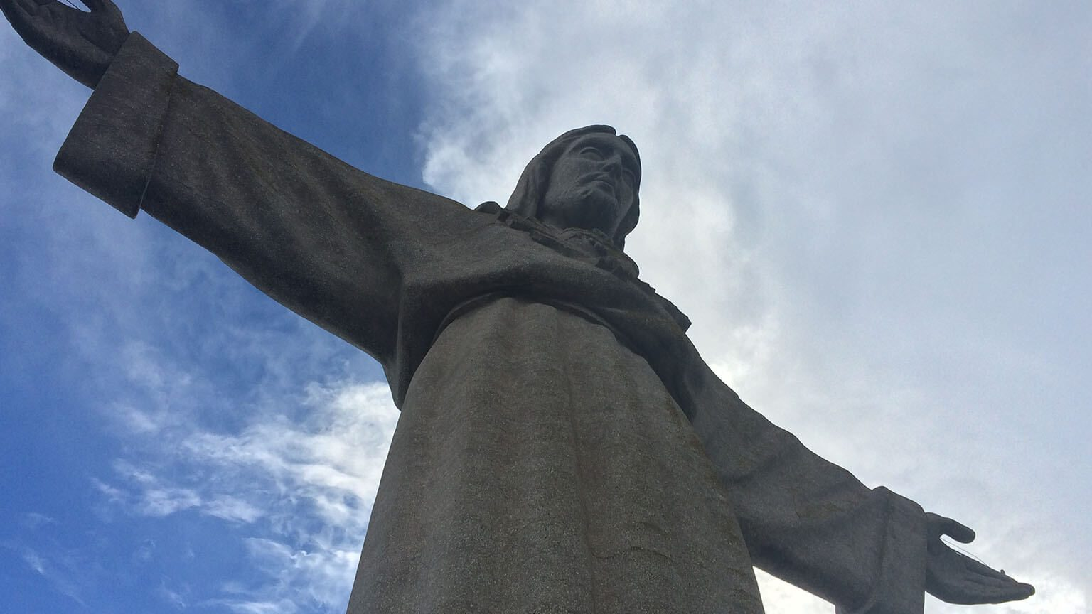 Low angle of Christ the Redeemer in Rio