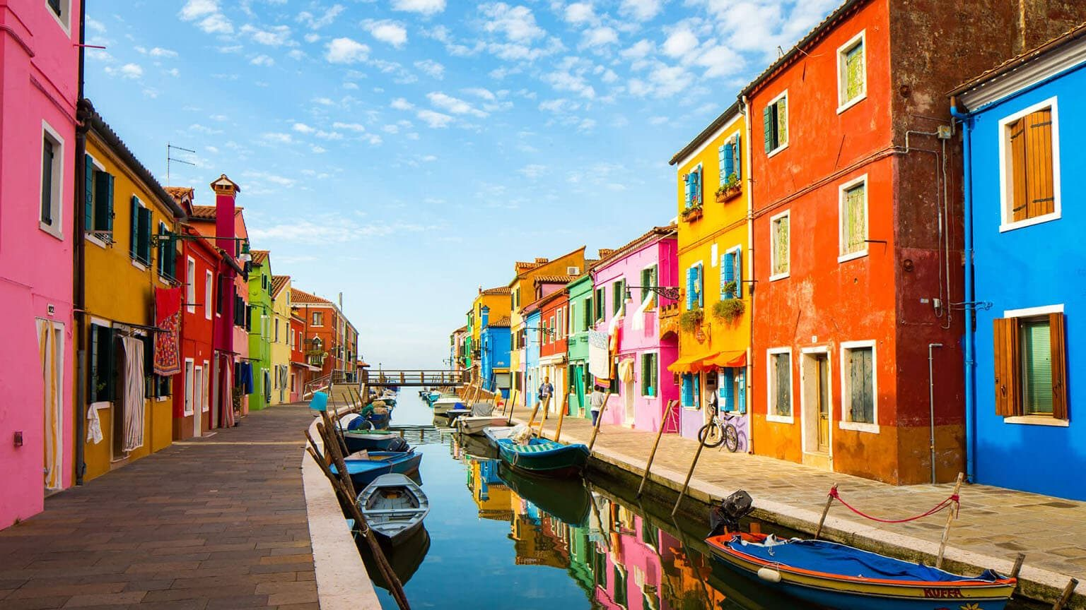 Colorful burano in Italy
