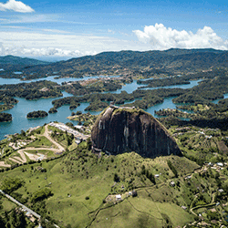 El Peñol of Guatape in Colombia