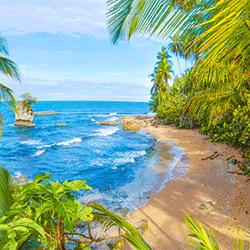 Manzanillo Beach Scenery in south Caribbean - Costa Rica