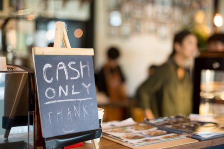 Cash-only retailers alienating 45% of the population