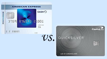 Blue Cash Preferred from Amex vs Capital One Quicksilver finder.com