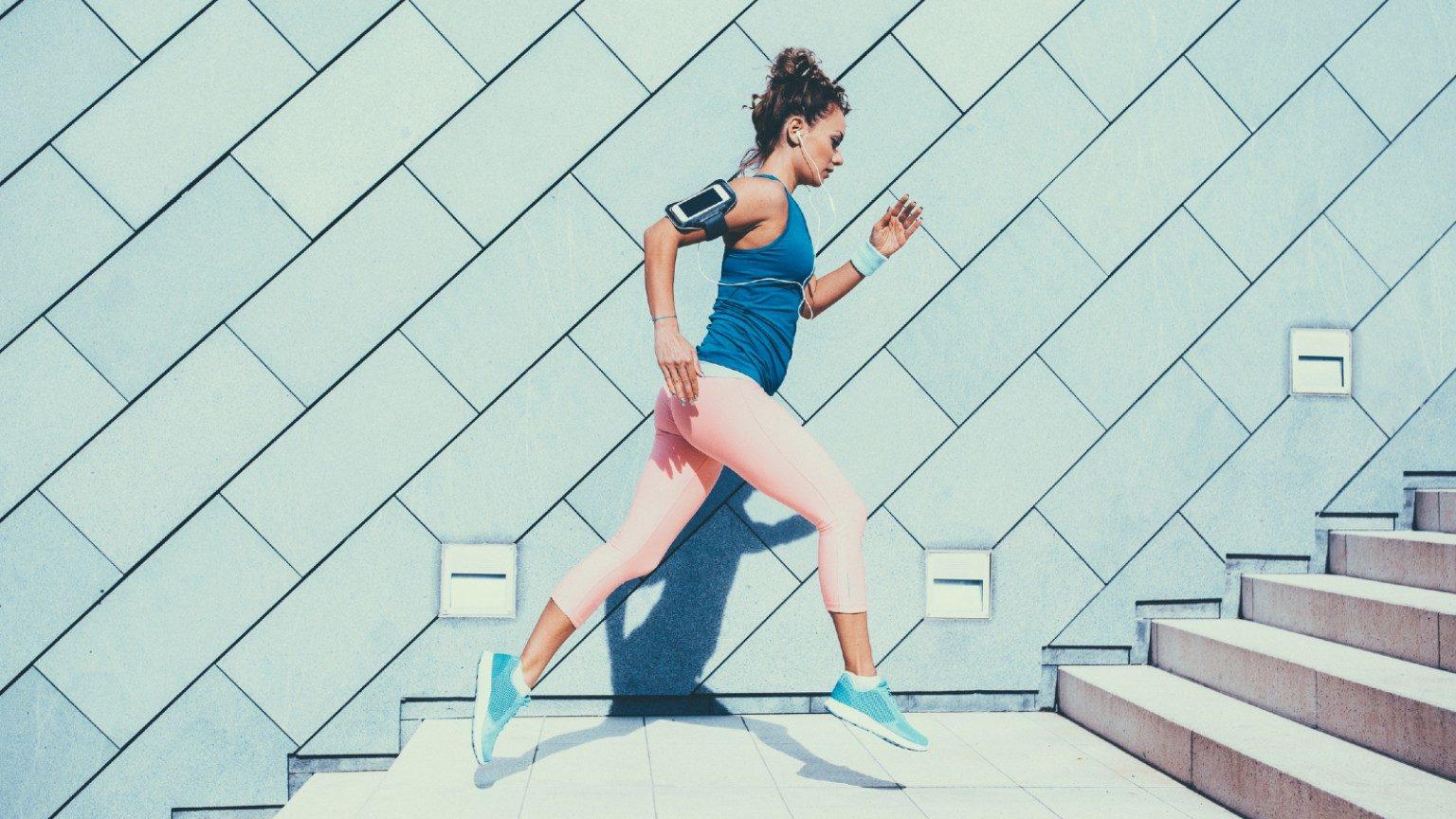 Sportswoman sports training
