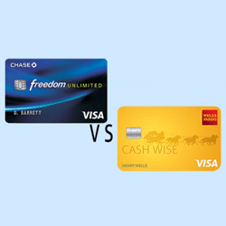 Wells Fargo Cash Wise Visa® Card vs Chase Freedom Unlimited