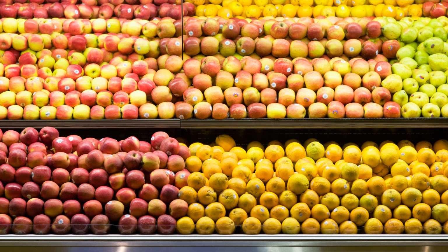 Apples in supermarket