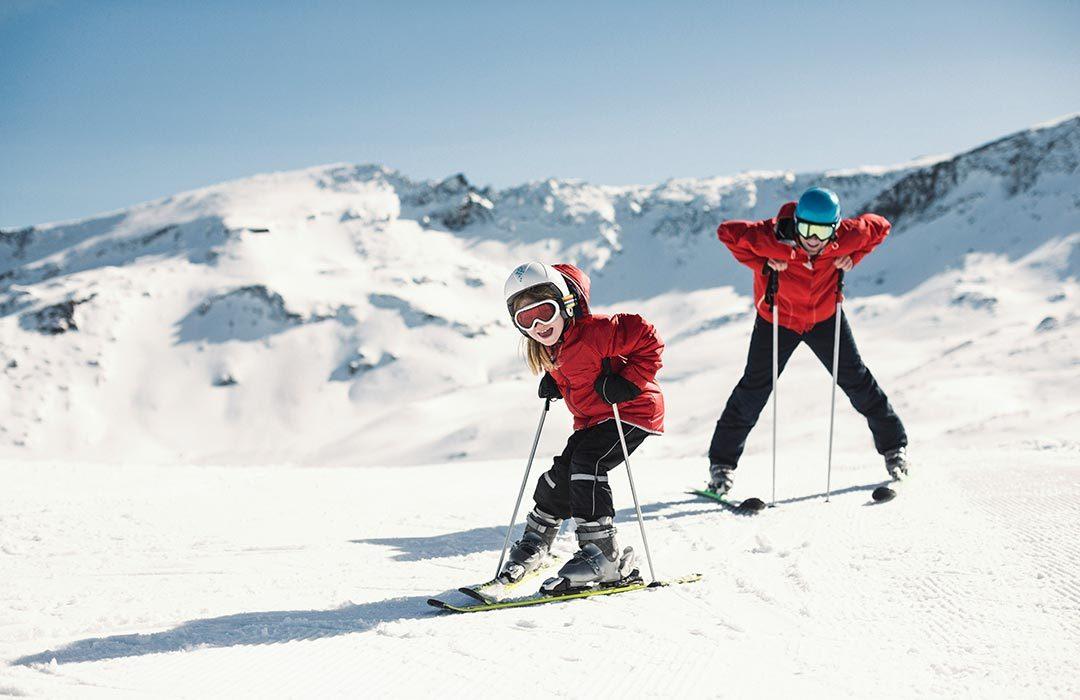 Ski holiday family