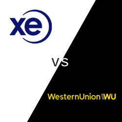 XE vs WesternUnion logo