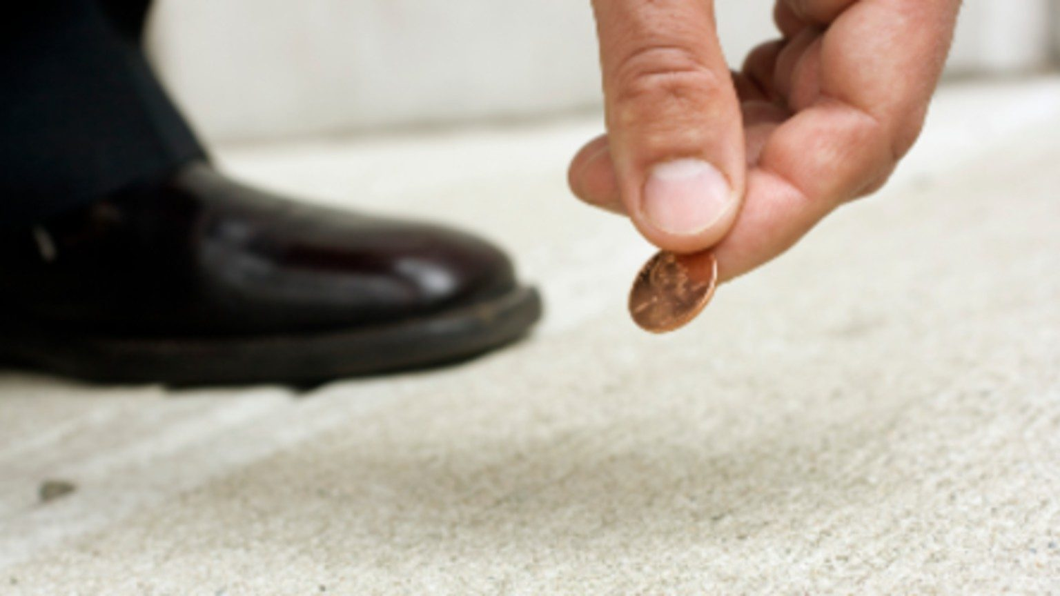 Picking a coin from the floor
