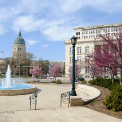 Downtown Topeka in Kansas US
