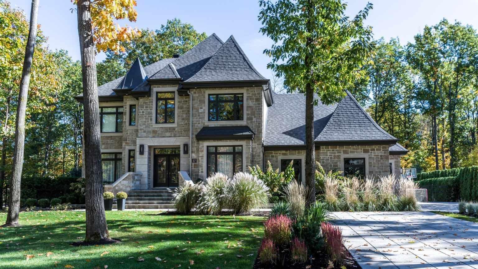 Luxury property on sunny day of Autumn