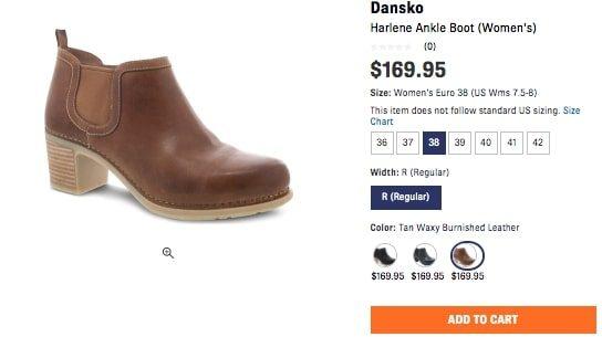 Shoes.com Dansko booties brown
