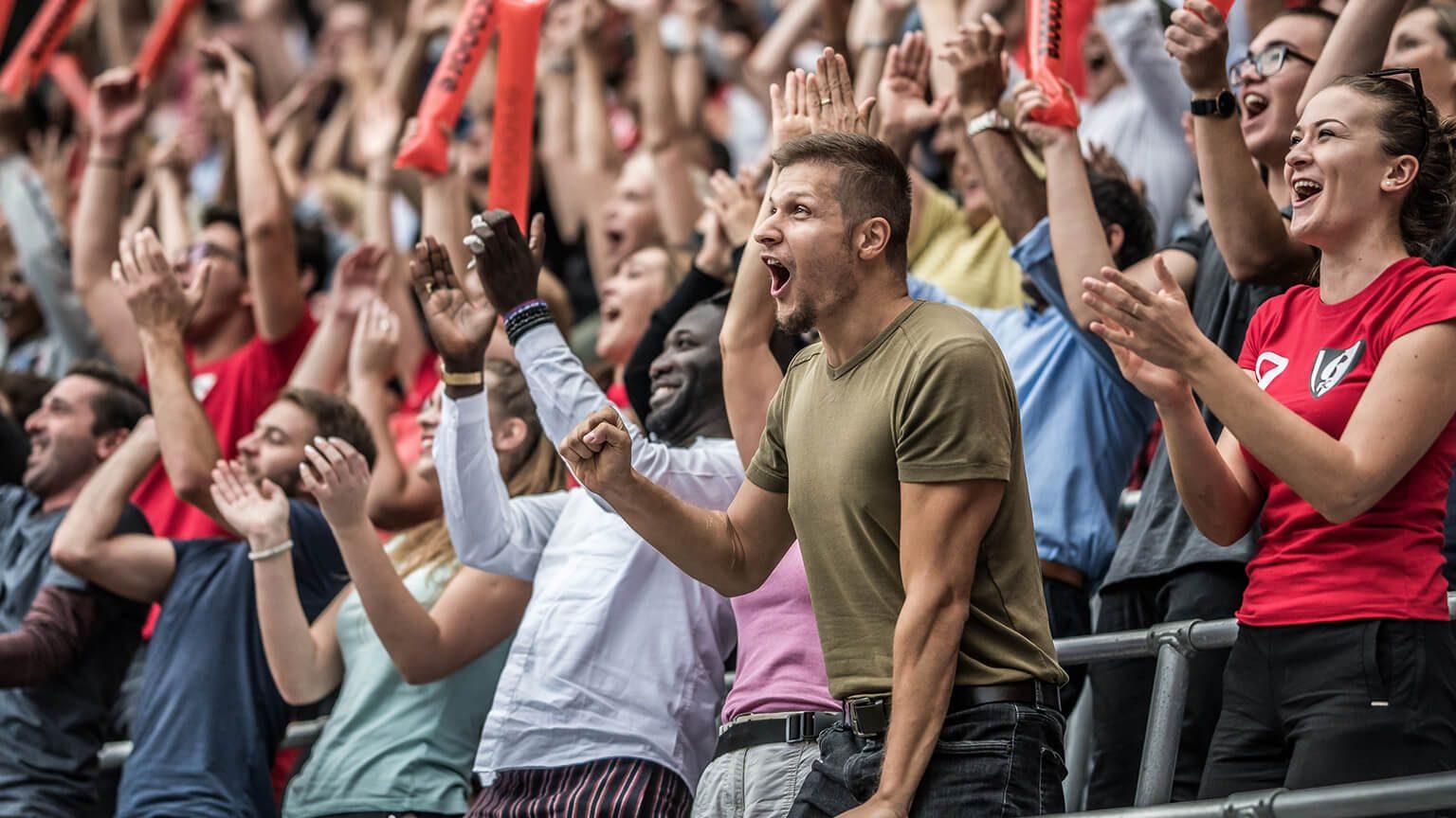 Sport fans at a stadium