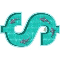 shark tank with dollar shape