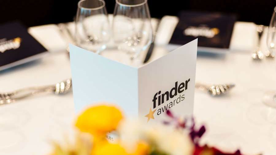 Finder Awards card on table