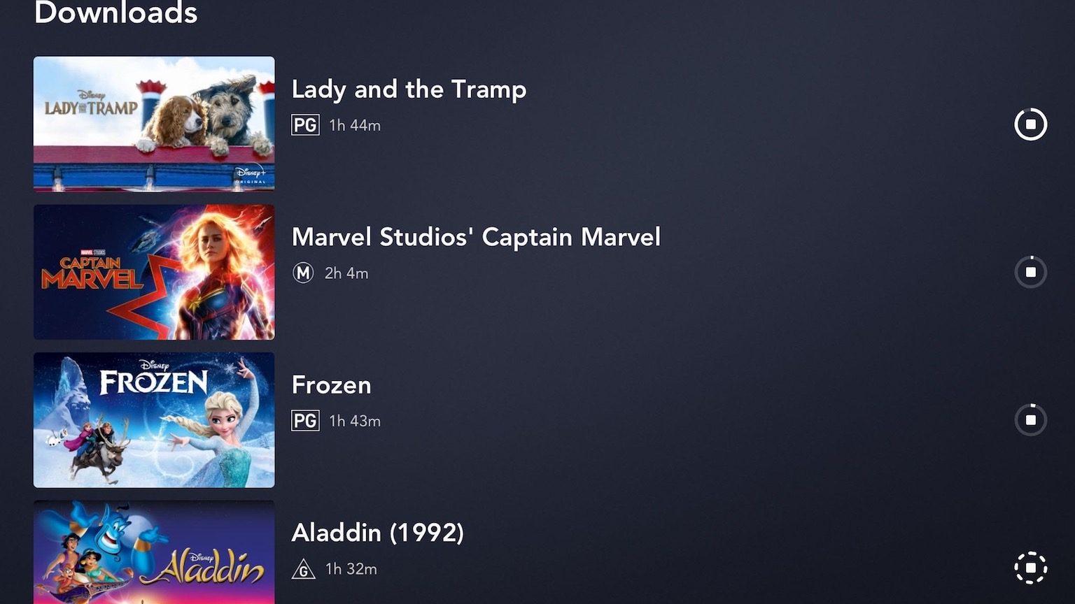 Disney+ Offline downloads image