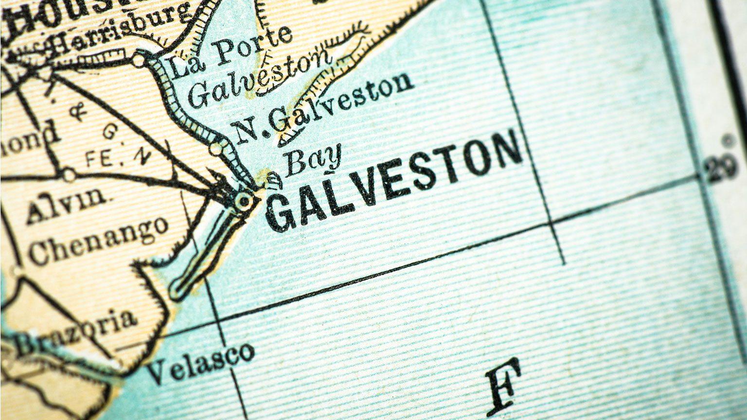 Map of Galveston, Texas