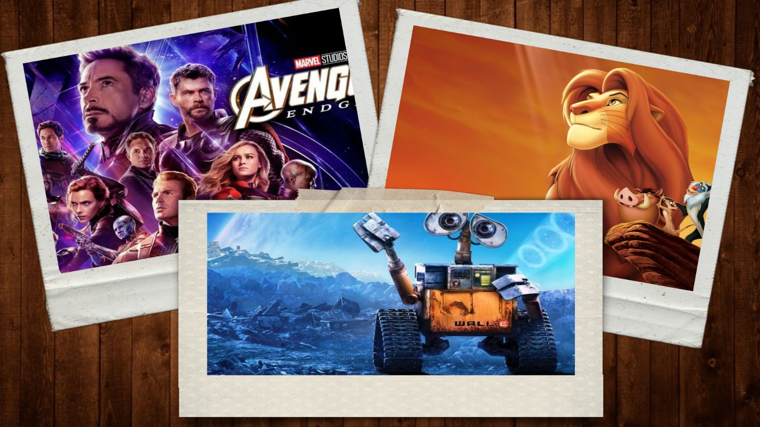 Best Disney+ Action Movies Avengers, Wall-E, Lion King.