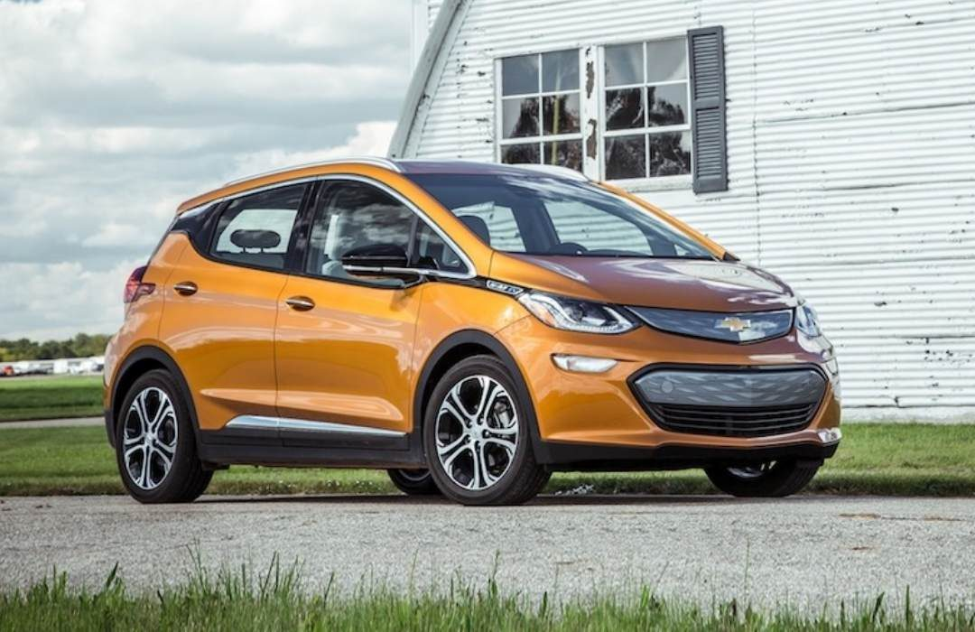 Orange Chevrolet Bolt EV