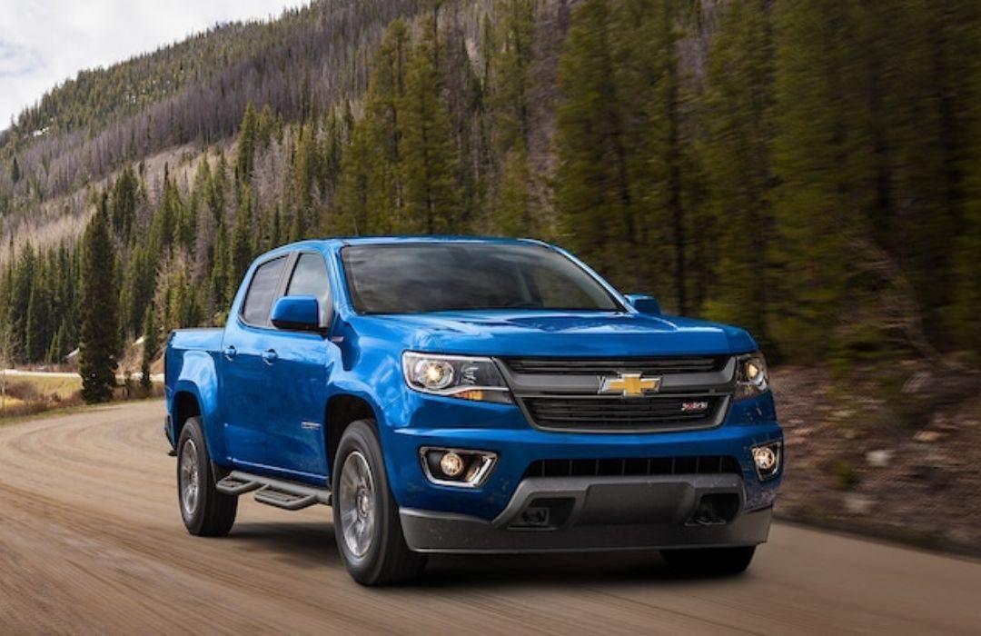 Blue Chevrolet Colorado