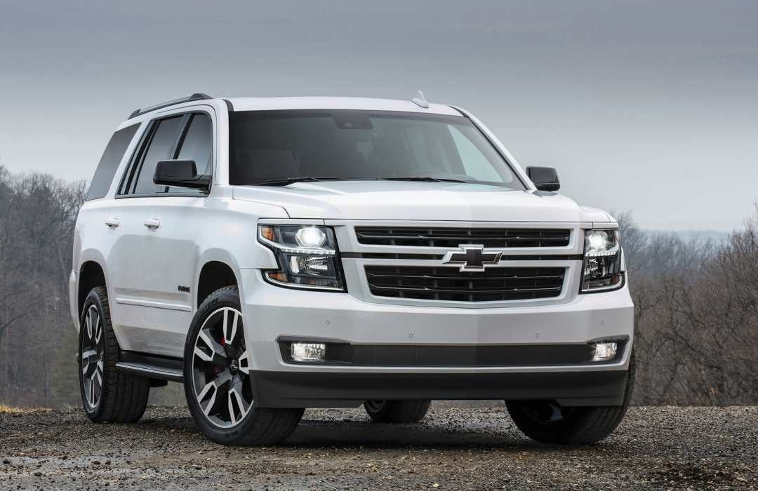 White Chevrolet Tahoe