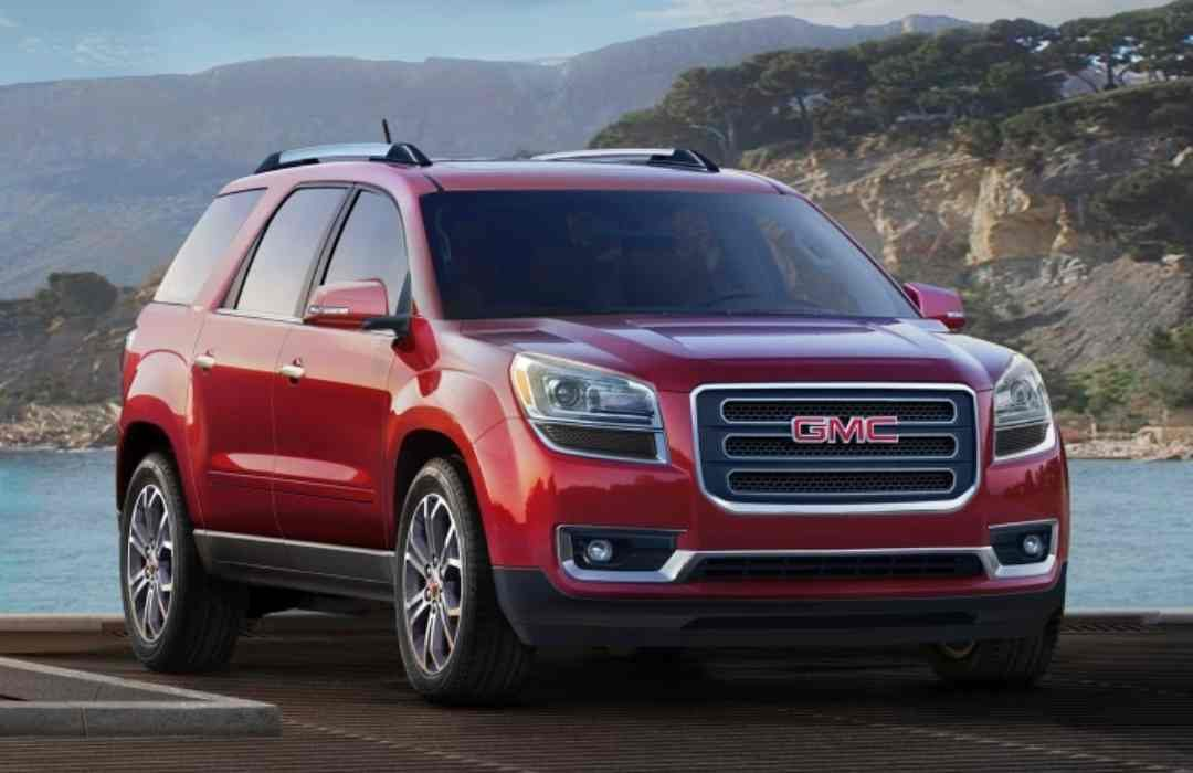 Red GMC Acadia Limited