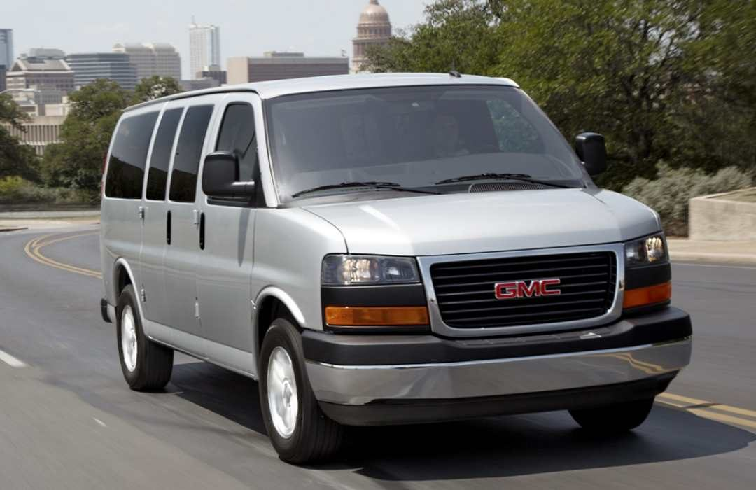 Grey GMC Savana