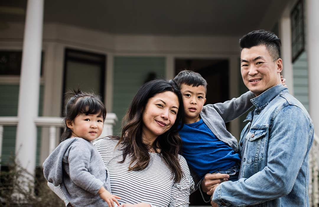 First time home buyers asian American family