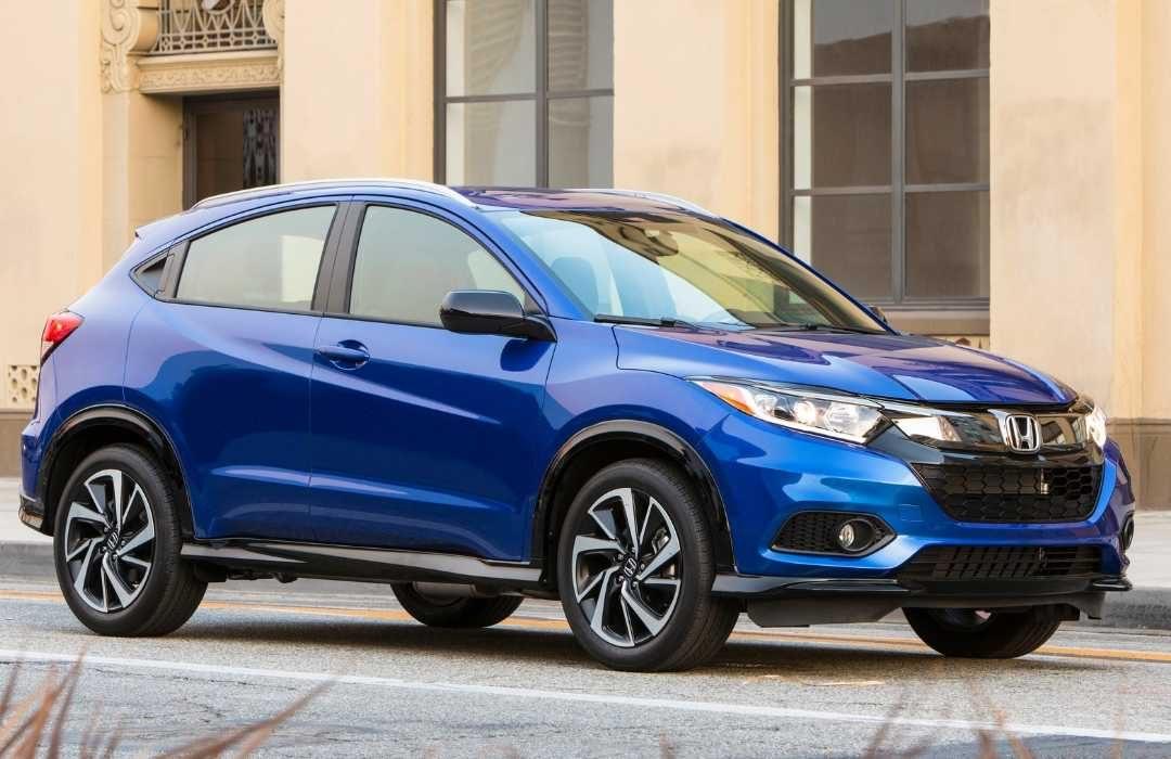 Blue Honda HR-V