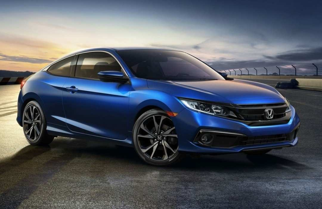 Blue Honda Civic