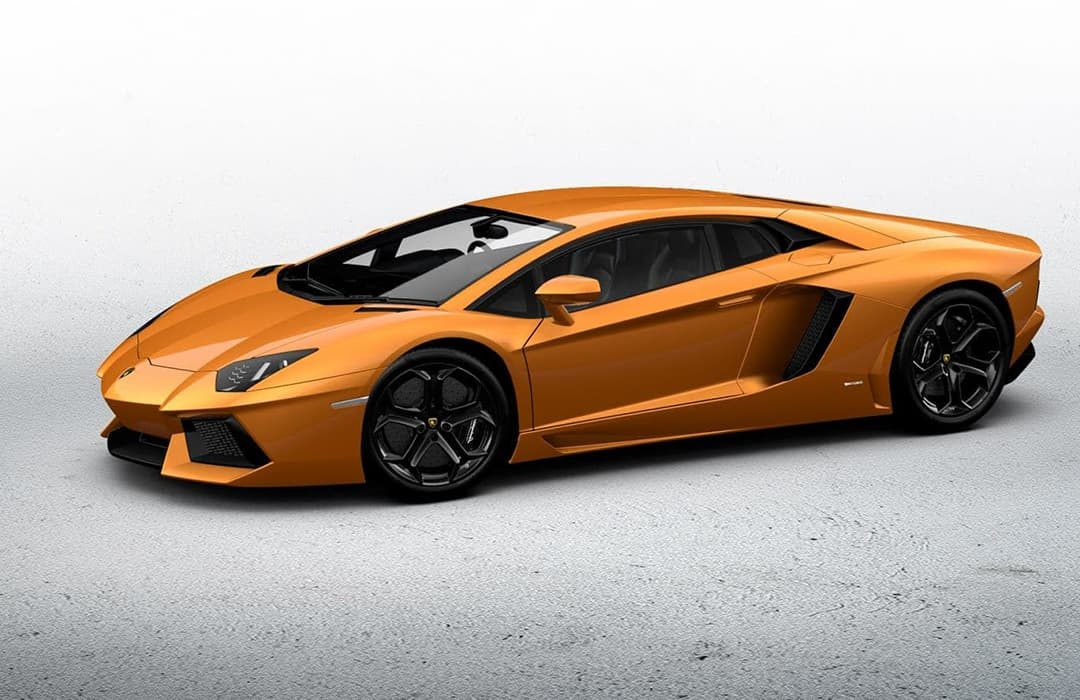 Lamborghini Aventador 2019 orange car
