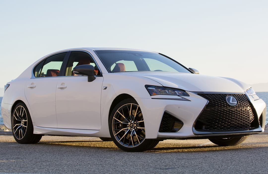 Lexus GS F car parked on a road