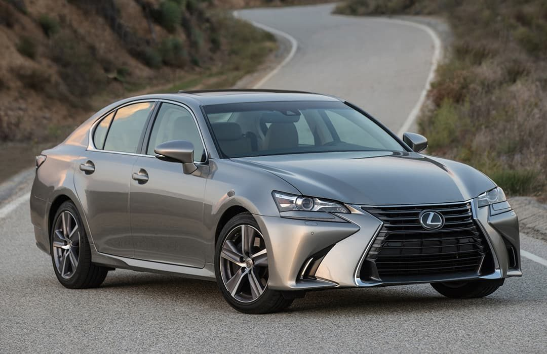 Lexus GS 2019 car on a countryside road