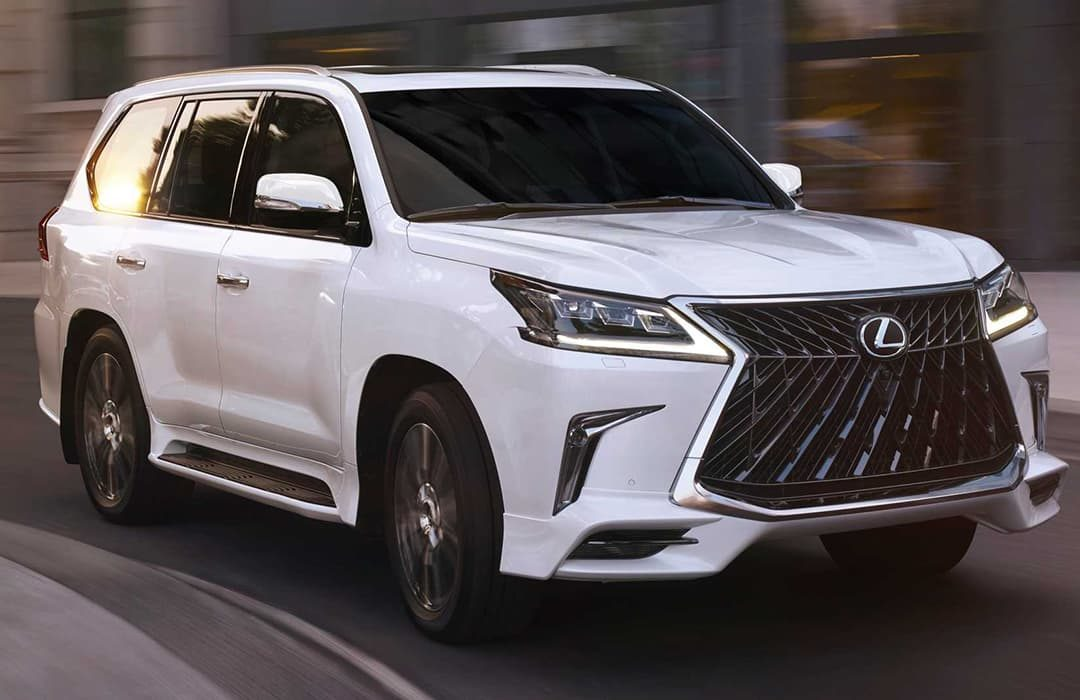 Lexus LX 2020 white car