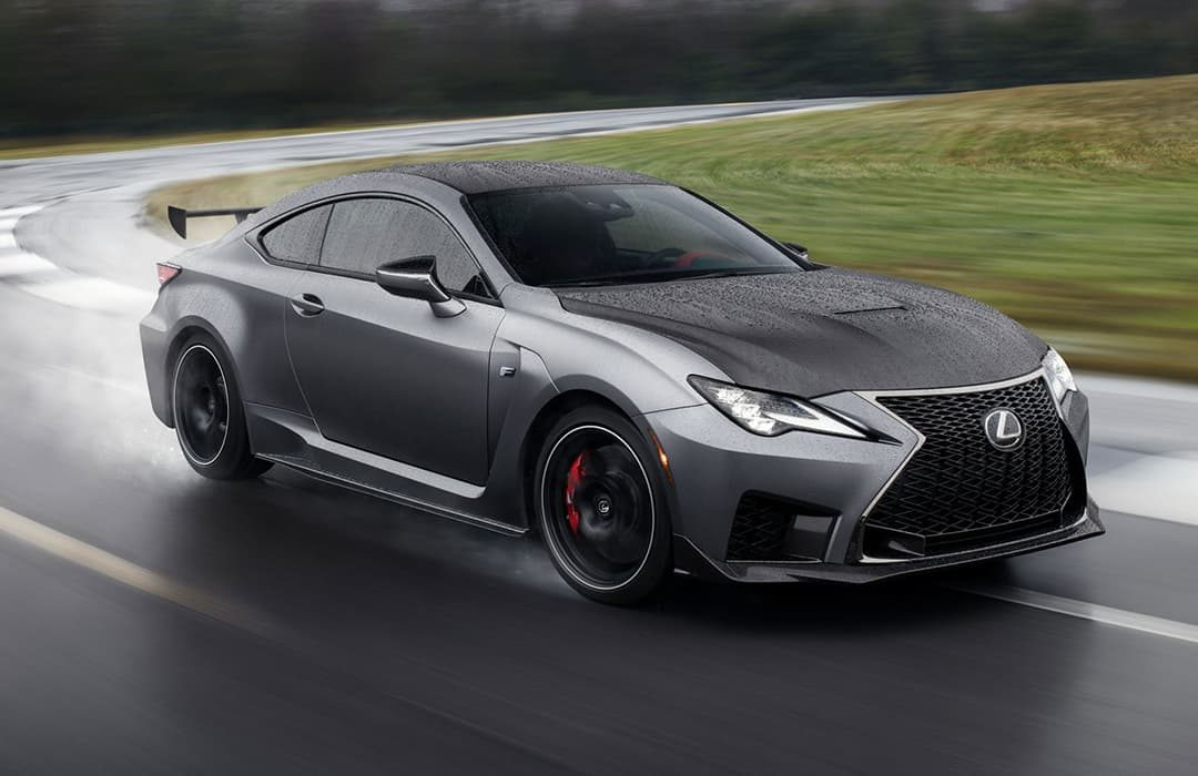 Lexus RC F 2019 black car