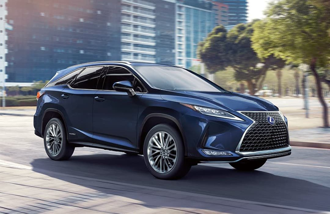 Lexus RX 2020 blue car