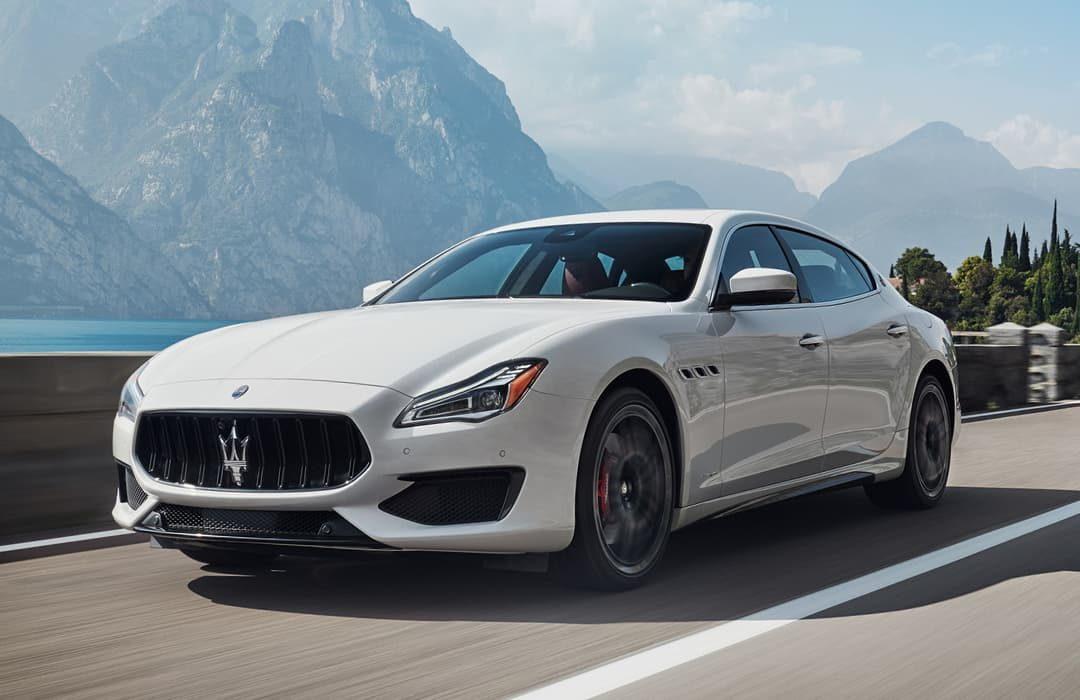 Maserati Quattroporte 2019 white car
