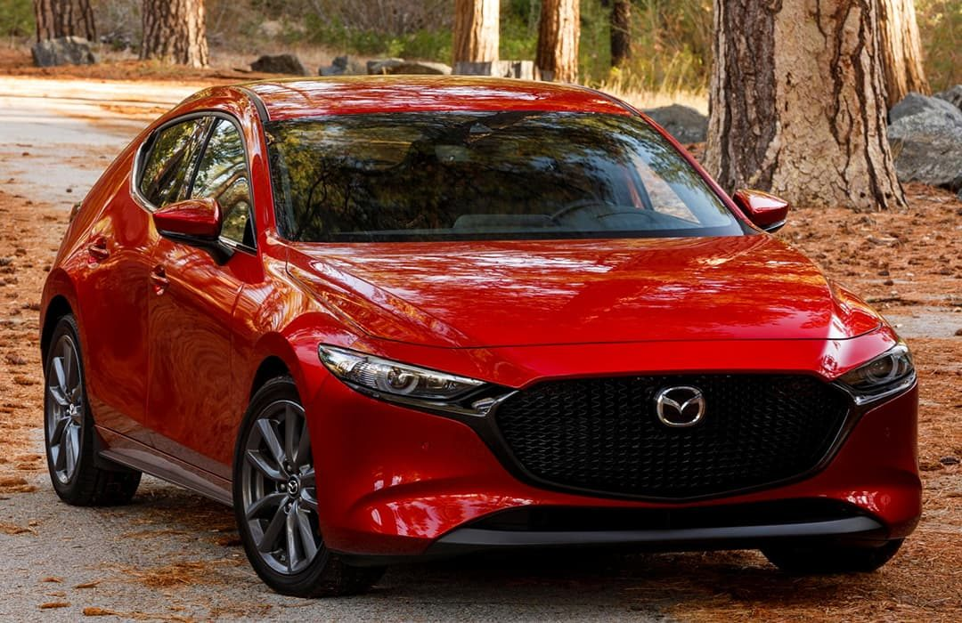 Mazda 3 2019 red car