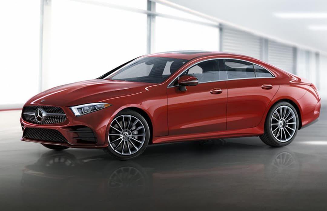 Mercedes Benz CLS-class red car