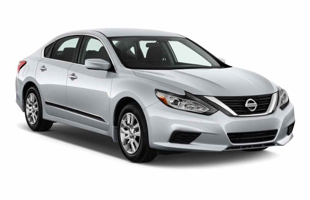White Nissan Altima