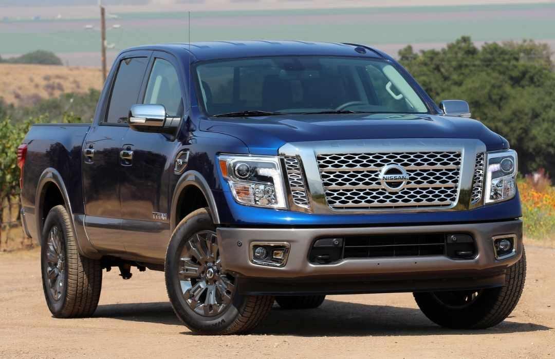 Dark Blue Nissan Titan