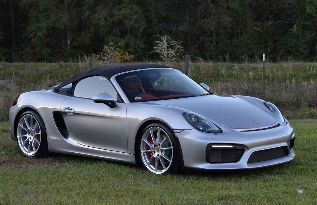 Grey Porsche Boxster