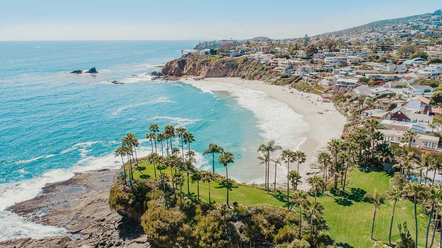 Aerial view of Laguna Beach, California