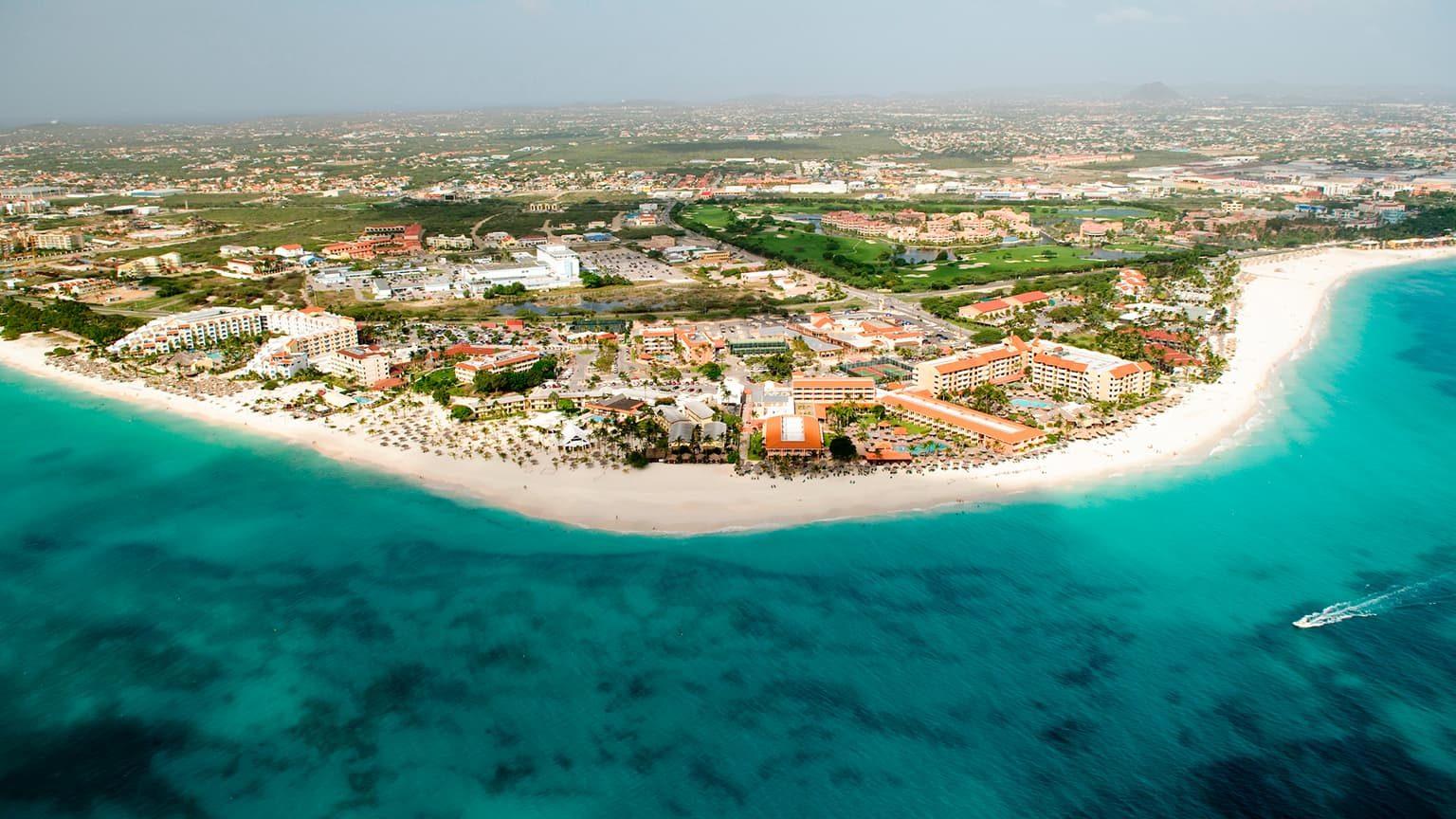 Aerial view of Aruba, Lesser Antilles