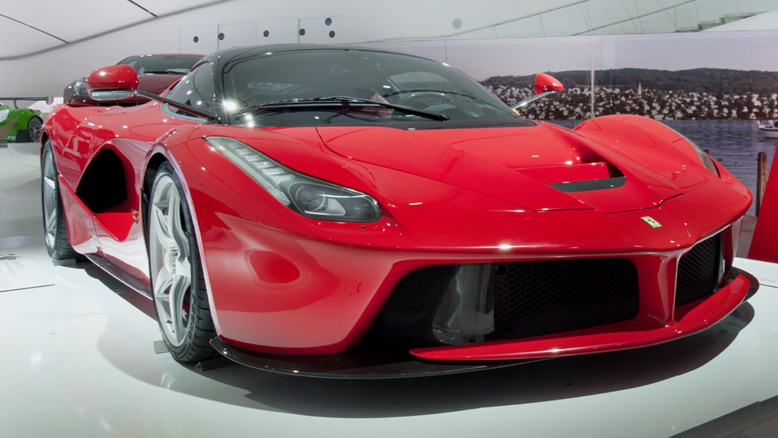 Front view of a red LaFerrari