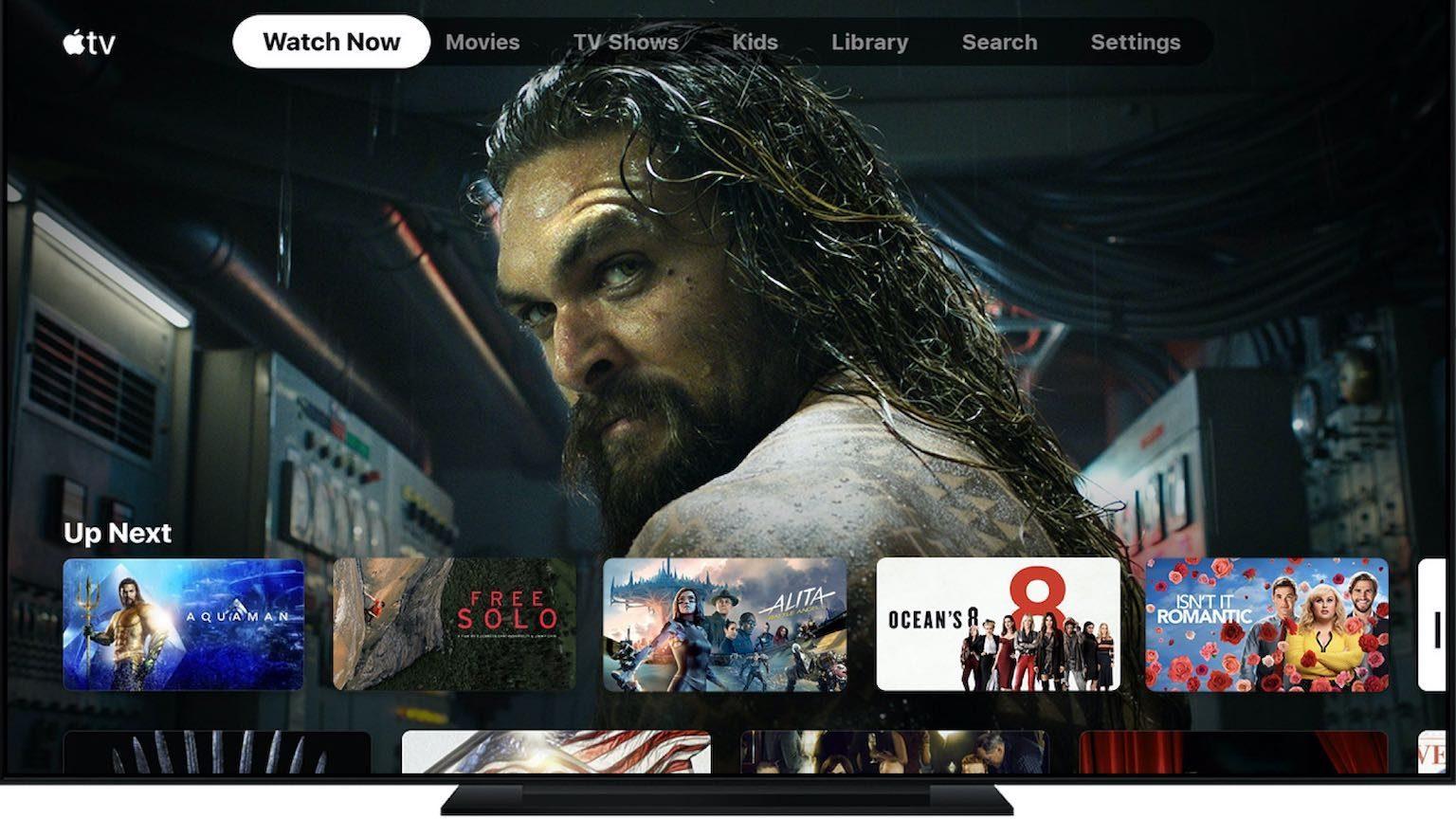Apple TV+ running on TV Screen