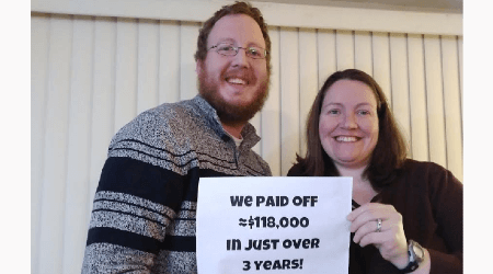 How one couple paid off over $100K in debt in 3 years