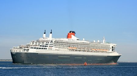 Queen Mary 2 outbound from Southampton 2 Sept 2013.