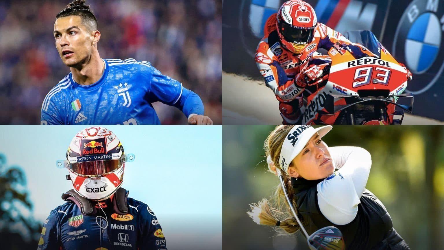 Cristiano Ronaldo, F1 Racer, MotoGP rider and female golfer