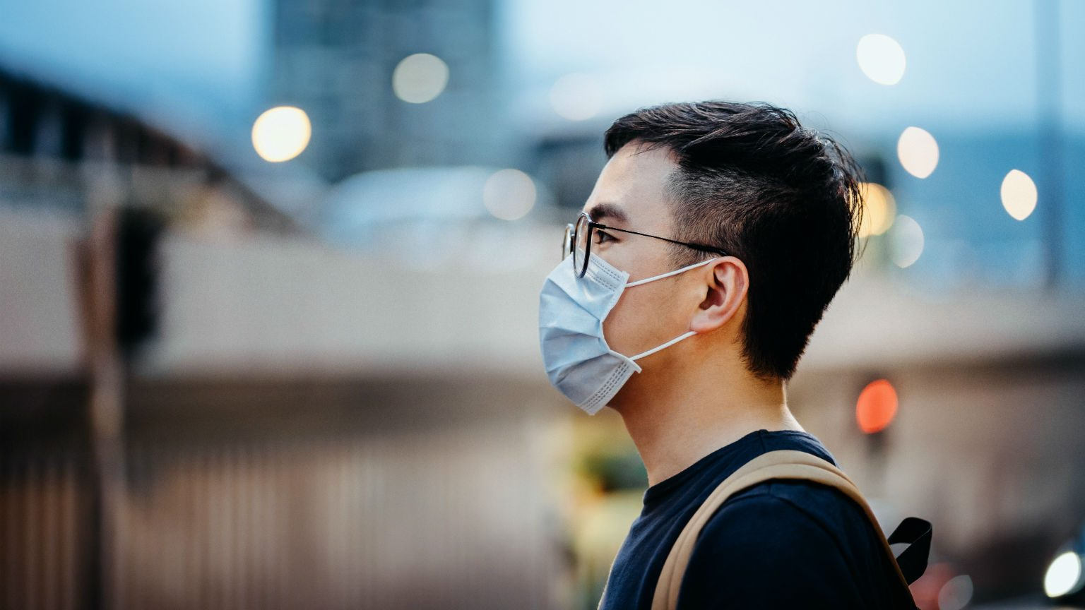 Man wearing surgical mask
