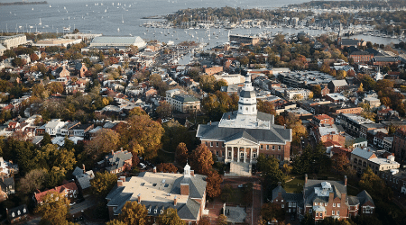 State House and Capital in Annapolis Maryland